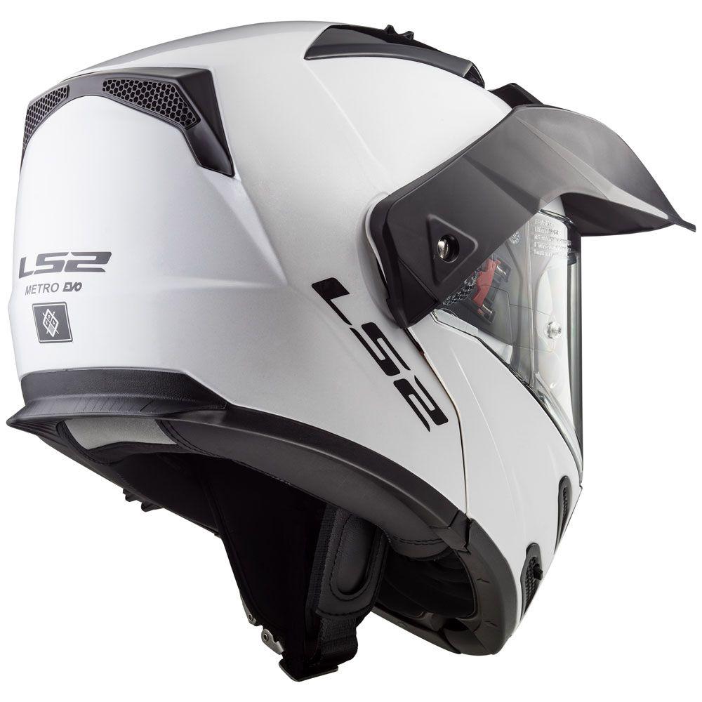 Capacete LS2  Metro FF324 White  - Nova Centro Boutique Roupas para Motociclistas