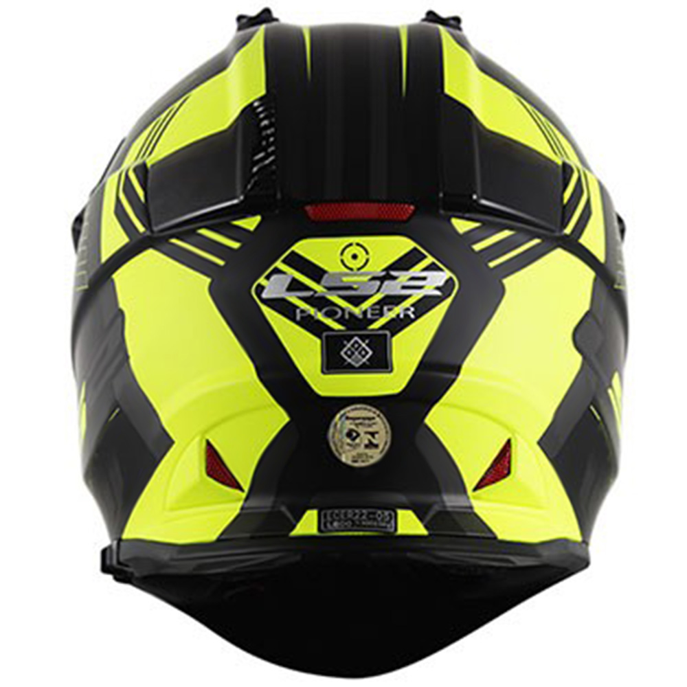 Capacete LS2 MX436 Amarelo e Preto (MX 436)  - Nova Centro Boutique Roupas para Motociclistas