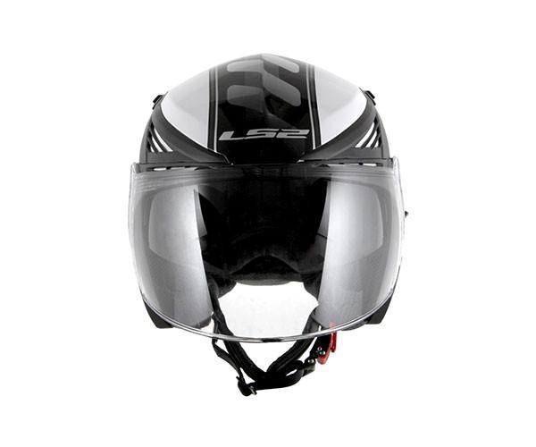 Capacete LS2 OF586 Bishop Atom Branco  - Nova Centro Boutique Roupas para Motociclistas