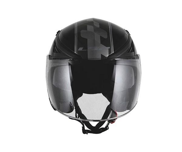 Capacete LS2 OF586 Bishop Atom Preto  - Nova Centro Boutique Roupas para Motociclistas