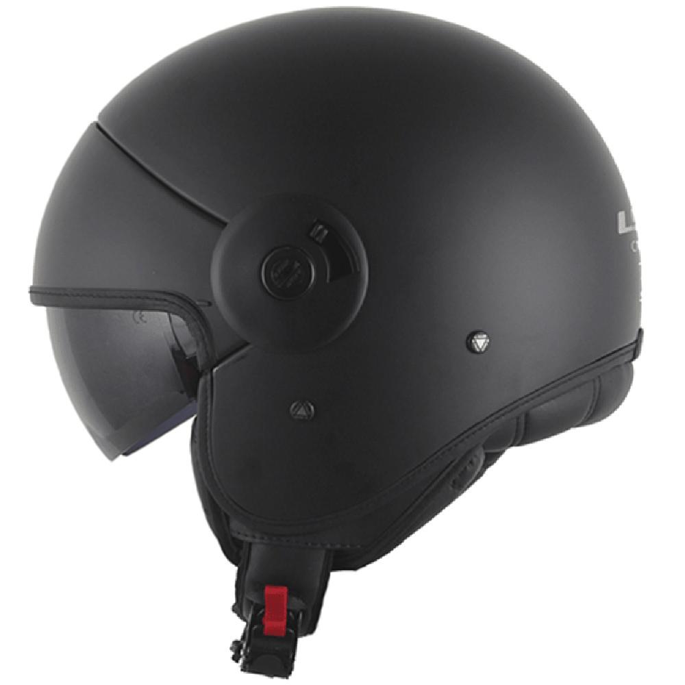 Capacete LS2 OF597 Matt Black (of 597)  - Nova Centro Boutique Roupas para Motociclistas