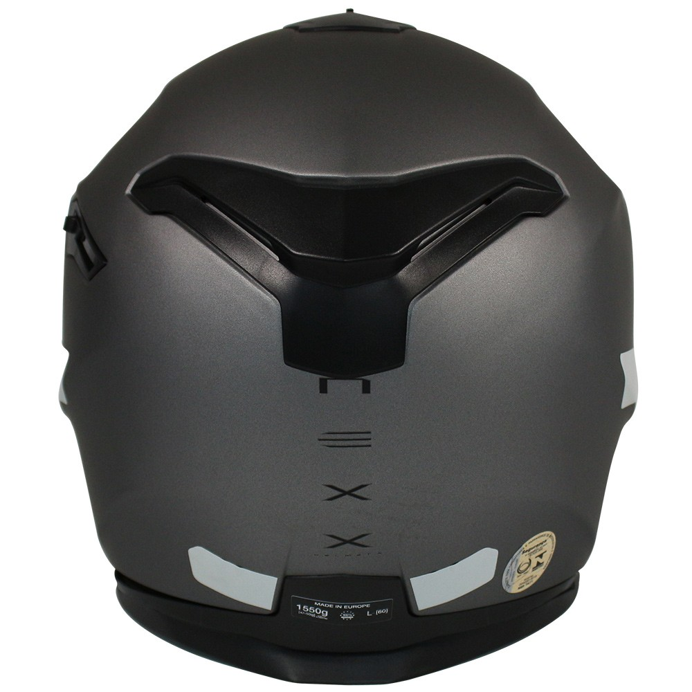 Capacete Nexx SX100 Plain Cinza Fosco com Viseira Solar  - Nova Centro Boutique Roupas para Motociclistas