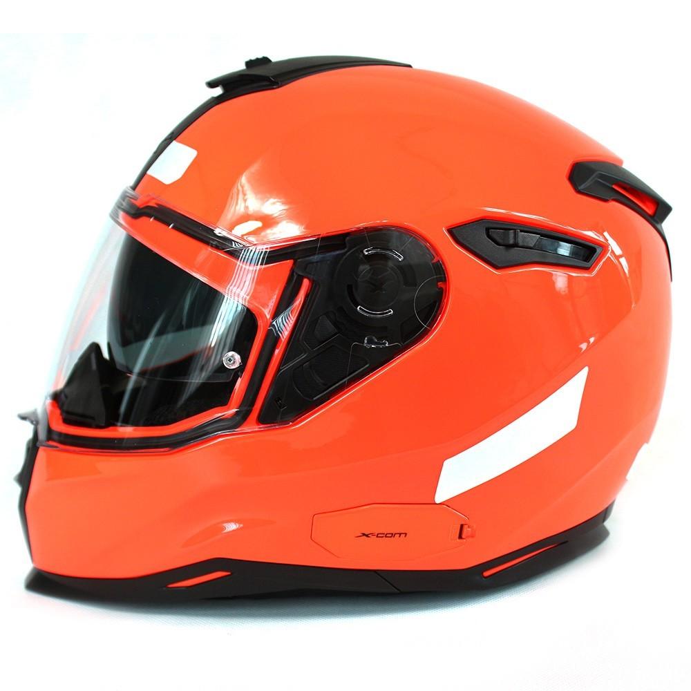 Capacete Nexx SX100 Plain Laranja Neon c/ Viseira Solar  - Nova Centro Boutique Roupas para Motociclistas