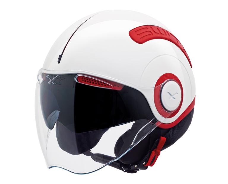Capacete Nexx SX10 Vermelho c/ Branco