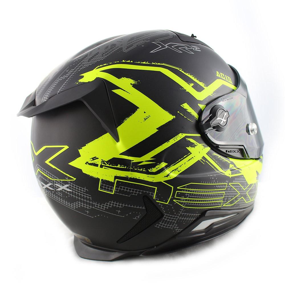 Capacete Nexx XR2 Acid Neon Amarelo Fosco - (LANÇAMENTO)  - Nova Centro Boutique Roupas para Motociclistas