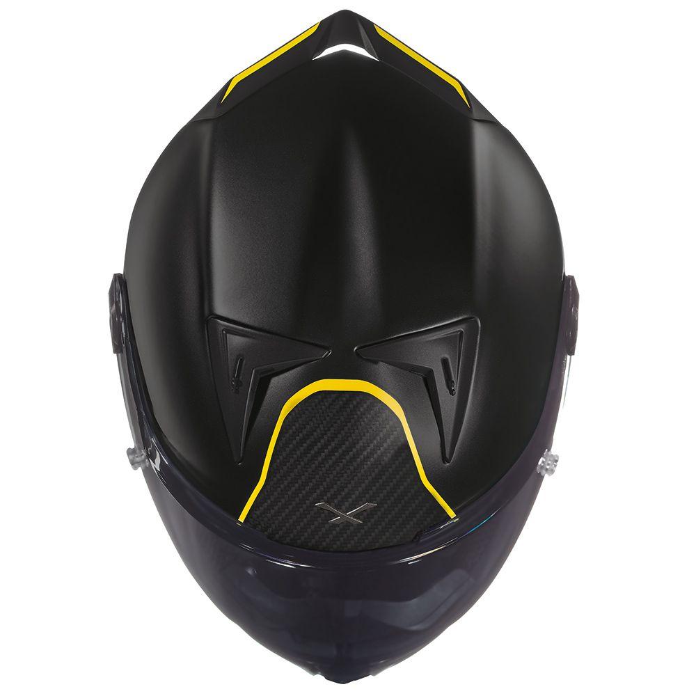 Capacete Nexx XR2 Carbon Dark Vision  - Preto/Amarelo - LANÇAMENTO 2019  - Nova Centro Boutique Roupas para Motociclistas