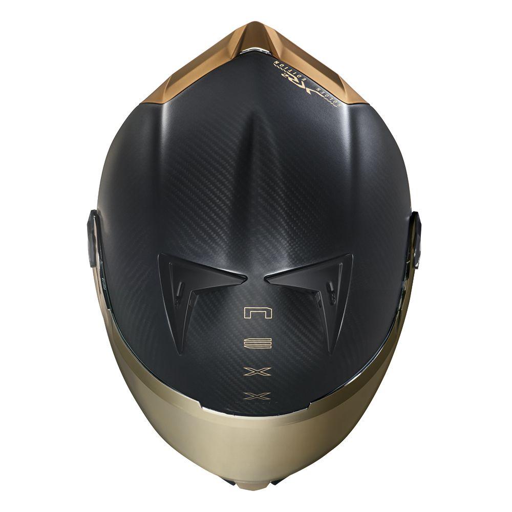 Capacete Nexx XR2 Carbon Golden Edition  - Preto/Amarelo - LANÇAMENTO 2019  - Nova Centro Boutique Roupas para Motociclistas