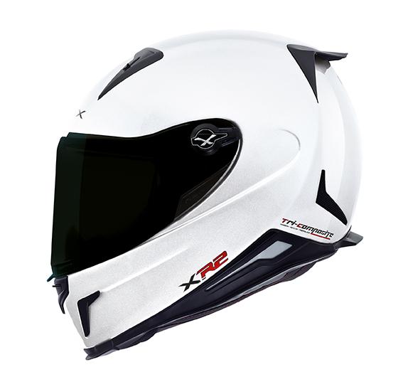 Capacete Nexx XR2 Plain Branco Brilhante   - Nova Centro Boutique Roupas para Motociclistas