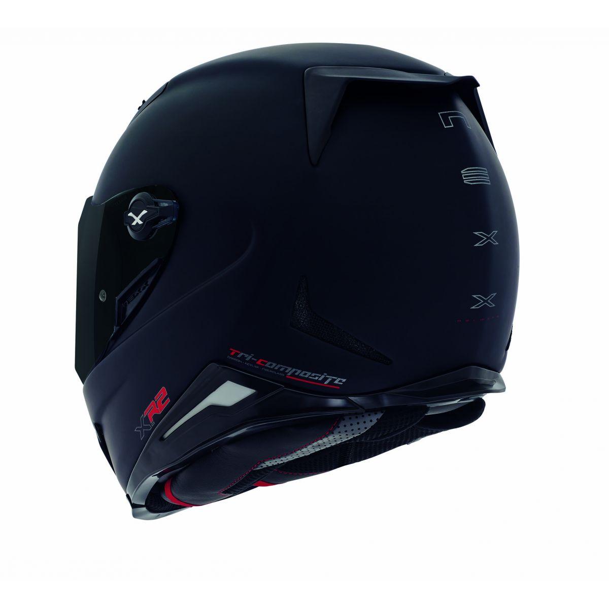 Capacete Nexx XR2 Plain Preto Brilhante Tri-Composto - Só 62 e 64  - Nova Centro Boutique Roupas para Motociclistas