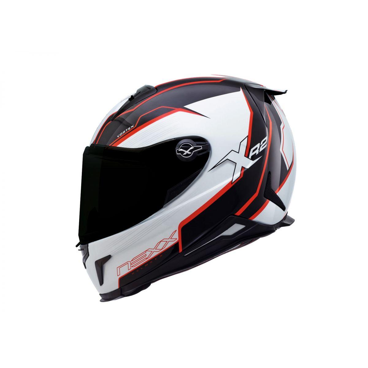Capacete Nexx XR2 Vortex Vermelho - Só 60 e 62  - Nova Centro Boutique Roupas para Motociclistas