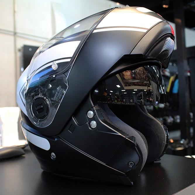 Capacete Nolan N104 Evo Scovery N-Com FLAT BLACK Escamoteável  - Nova Centro Boutique Roupas para Motociclistas