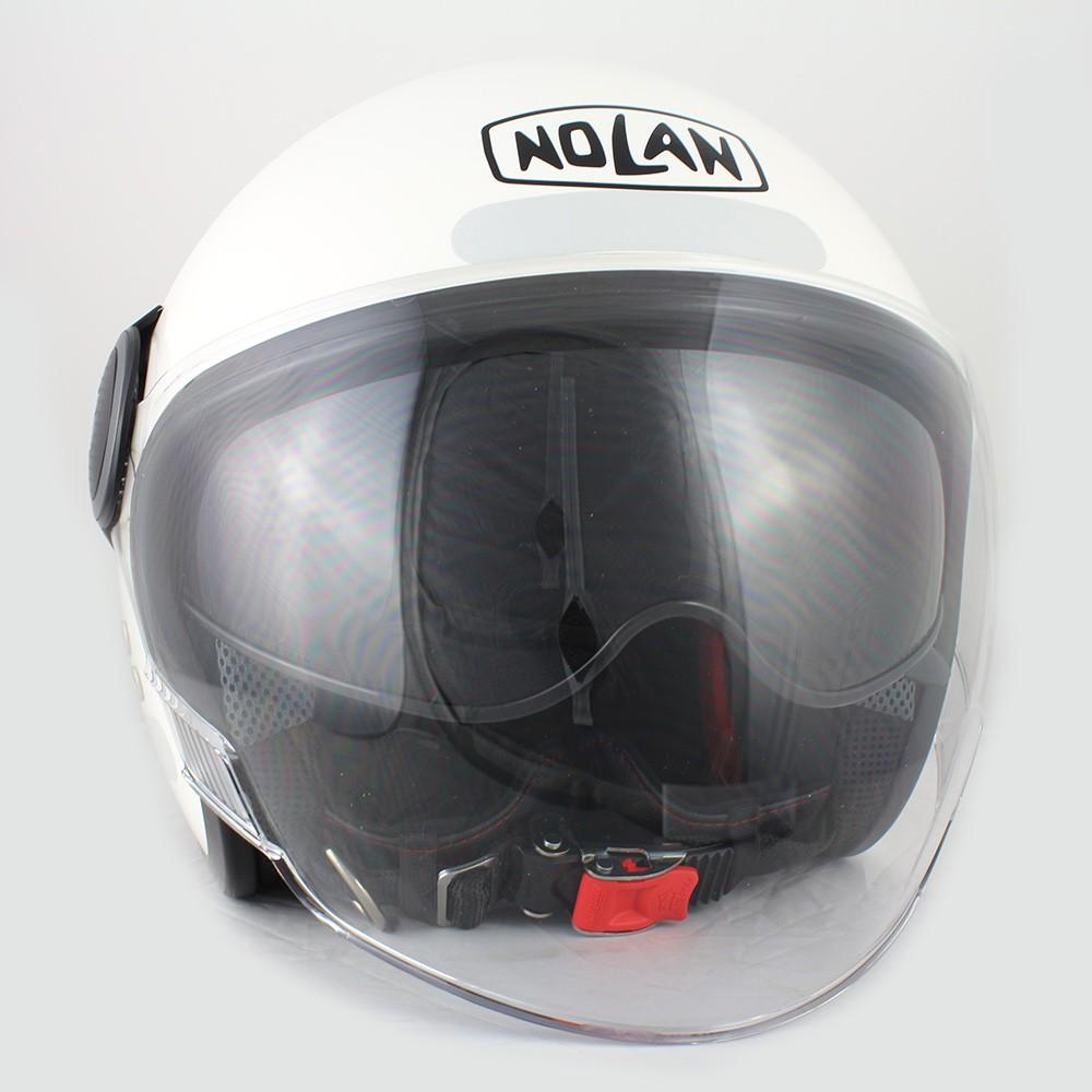Capacete Nolan N21 Branco C/ Viseira Solar Interna  - Nova Centro Boutique Roupas para Motociclistas