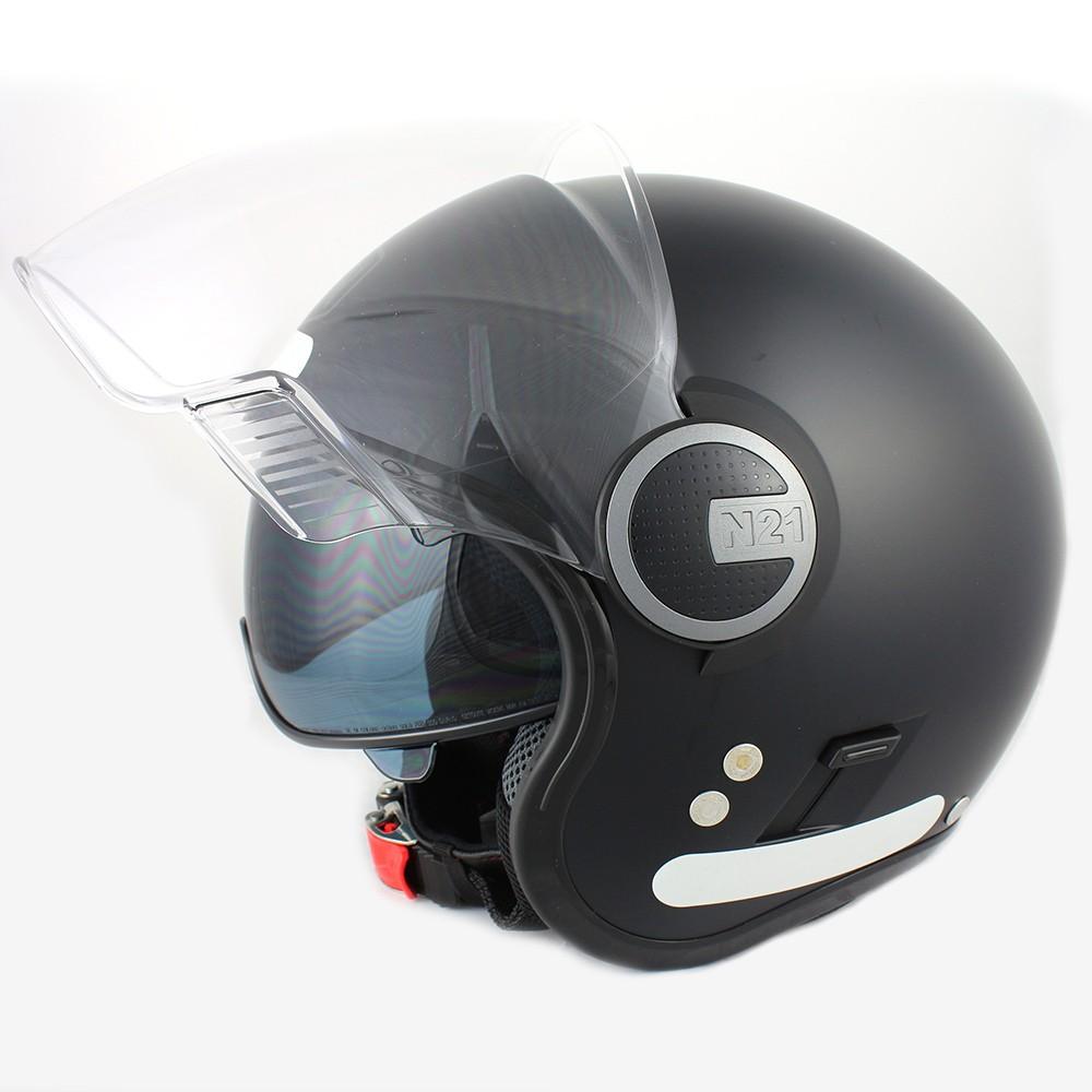 Capacete Nolan N21 Preto Fosco C/ Viseira Solar Interna  - Nova Centro Boutique Roupas para Motociclistas