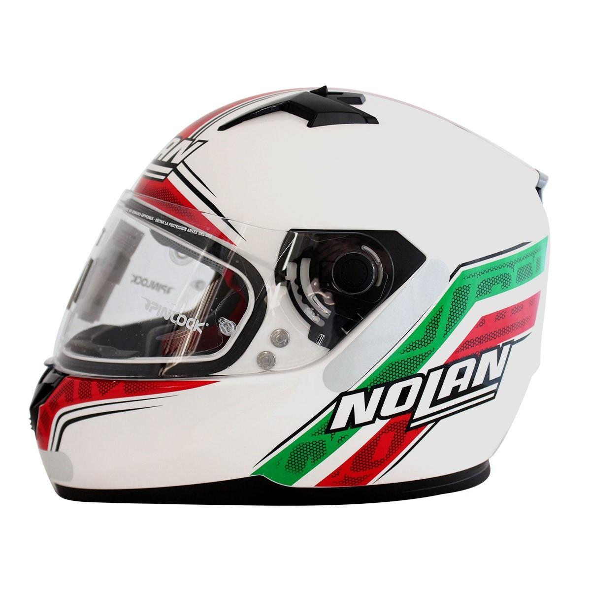 Capacete Nolan N64 Italy Metal White - SUPEROFERTA!   - Nova Centro Boutique Roupas para Motociclistas