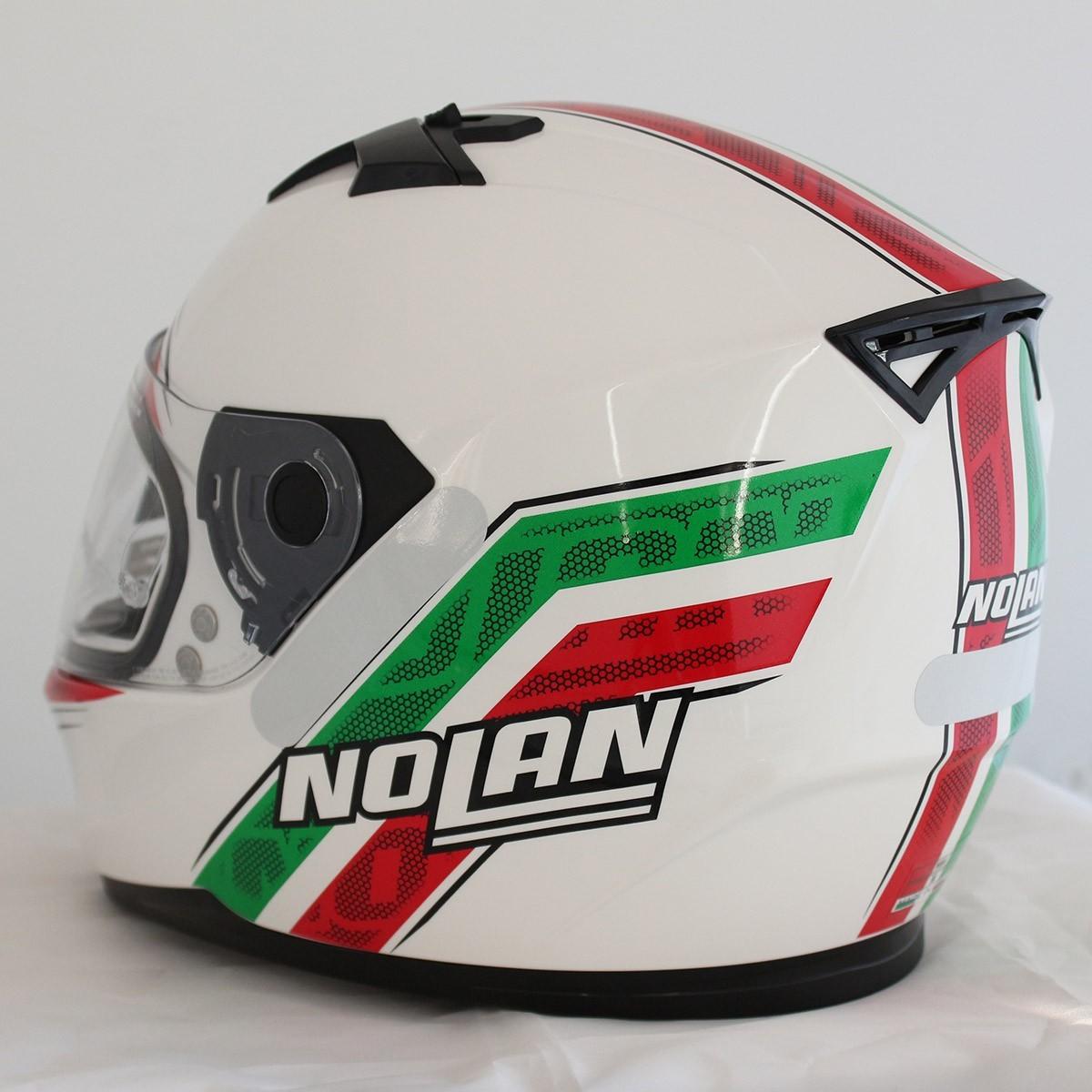 0 Capacete Nolan N64 Italy Metal White (GANHE BALACLAVA NOLAN)  - Nova Centro Boutique Roupas para Motociclistas