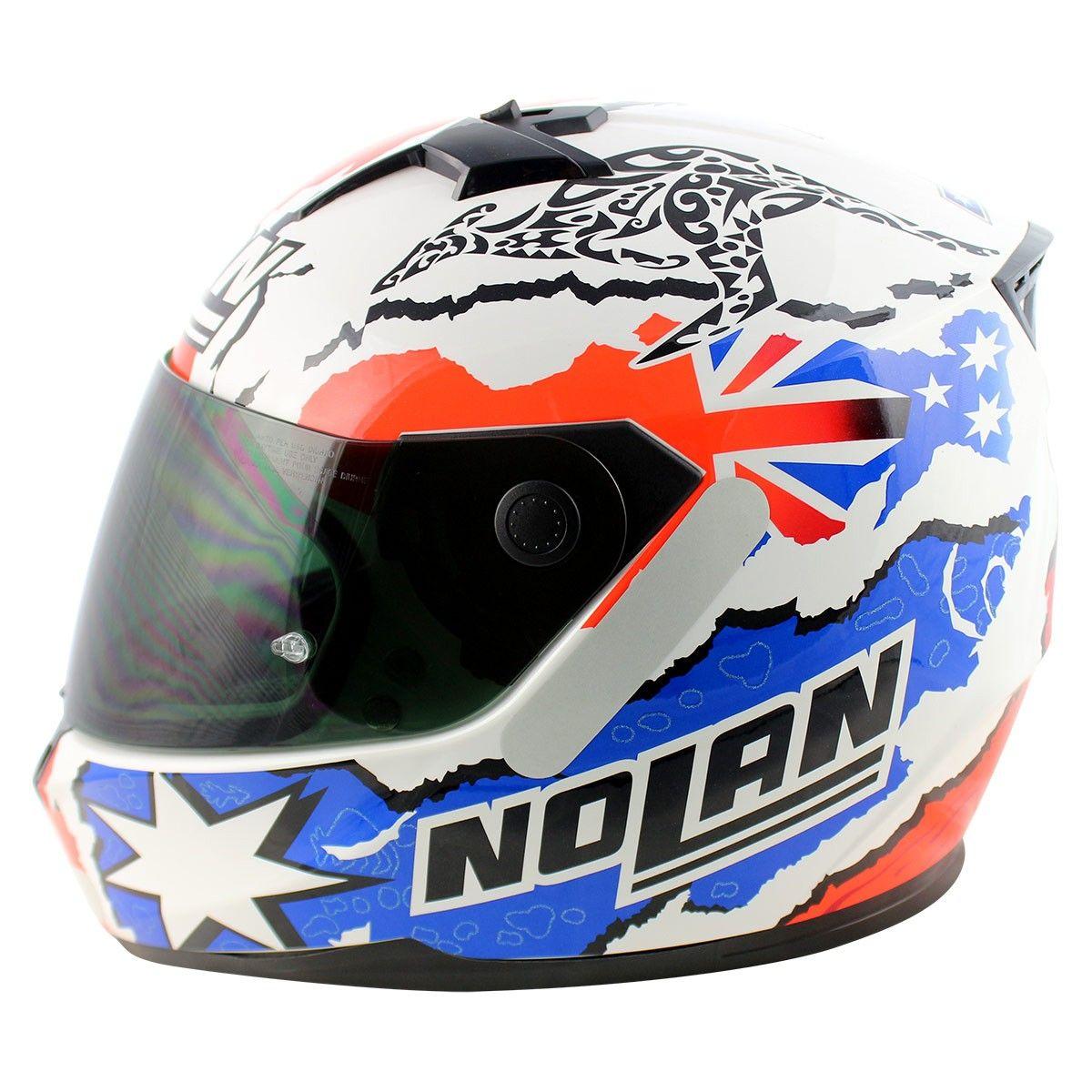 Capacete Nolan N64 Stoner White (GANHE BALACLAVA NOLAN)