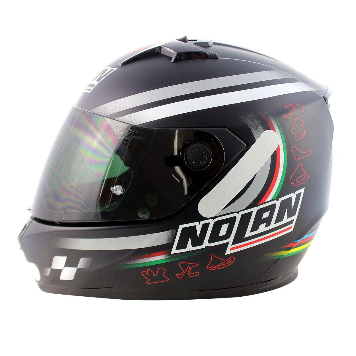 0 Capacete Nolan N64 Superbike Flat Black  (GANHE BALACLAVA)