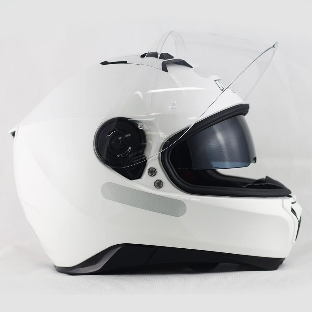 Capacete Nolan N87 Martz Metal White- c/ Viseira Interna  - Nova Centro Boutique Roupas para Motociclistas