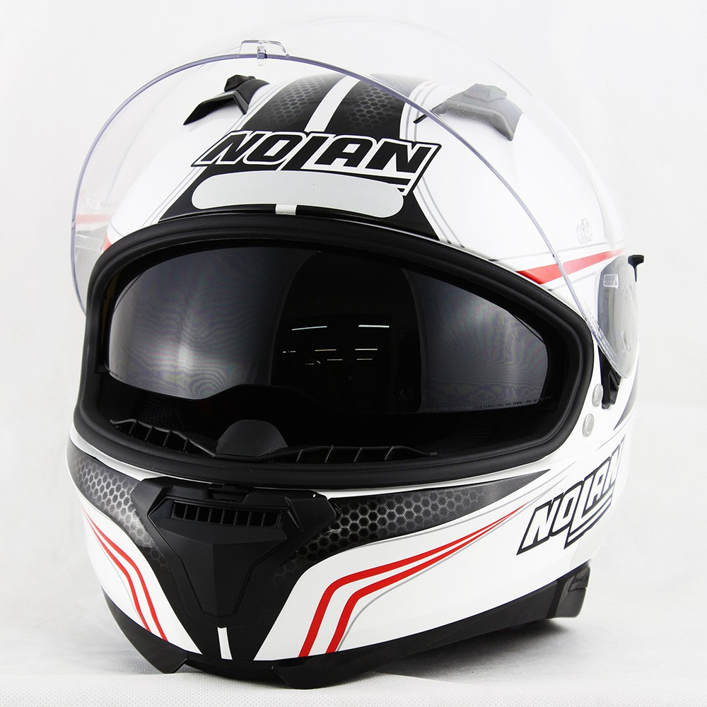 Capacete Nolan N87 Rapid Metal White - c/ Viseira Interna