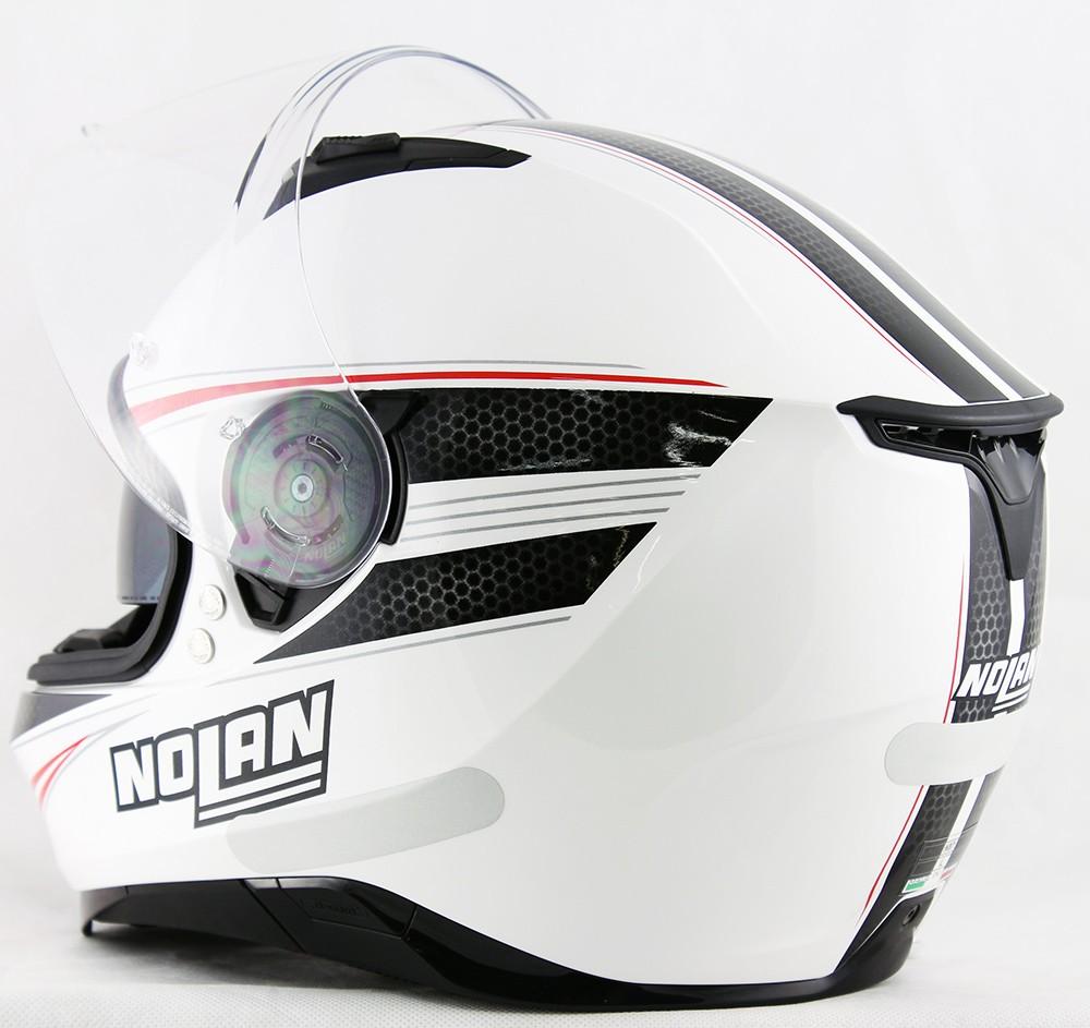 Capacete Nolan N87 Rapid Metal White - c/ Viseira Interna  - Nova Centro Boutique Roupas para Motociclistas