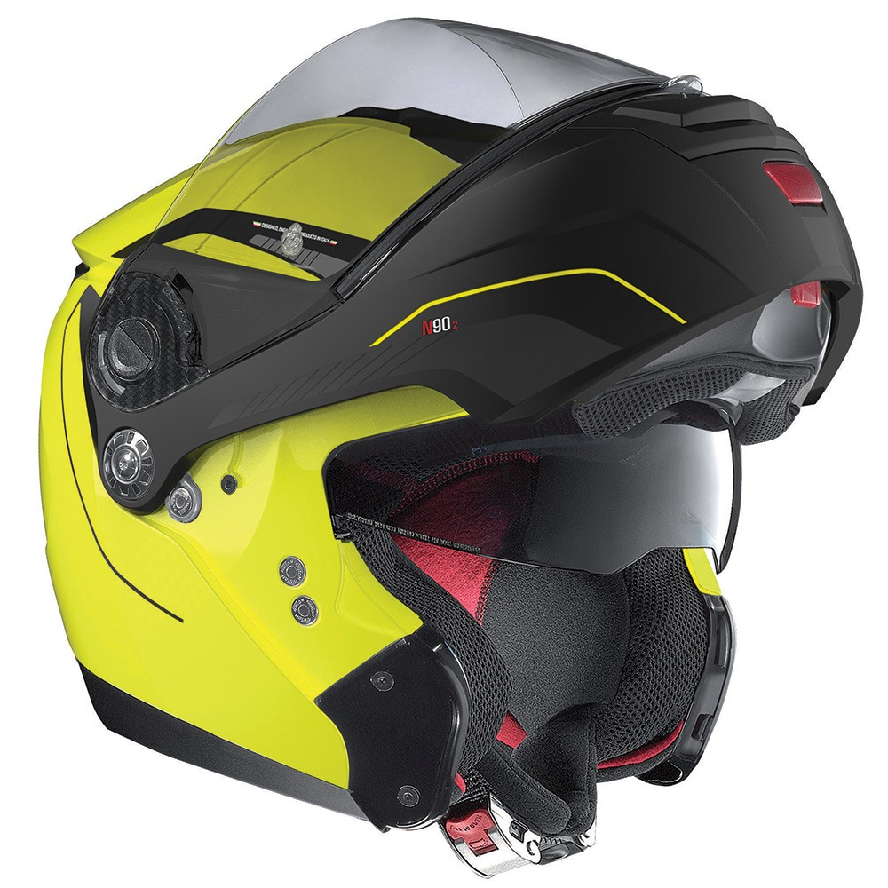 Capacete Nolan N90 Straton Amarelo Escamoteável  C/ Viseira Solar Interna  - Nova Centro Boutique Roupas para Motociclistas