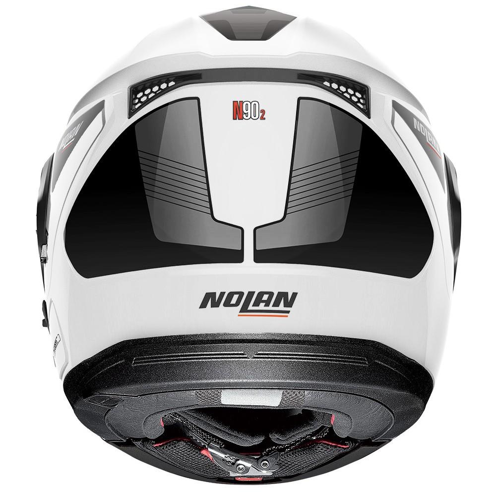 Capacete Nolan N90 Straton Branco Escamoteável  C/ Viseira Solar Interna  - Nova Centro Boutique Roupas para Motociclistas