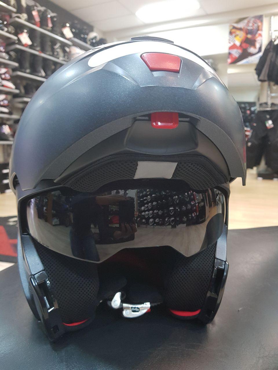Capacete Nolan N91 Special Black Graphite - Escamoteável com Viseira interna escura