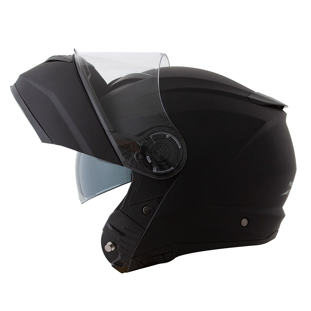 Capacete Norisk FF345 Escamoteável Force Matt Black C/ Viseira Interna