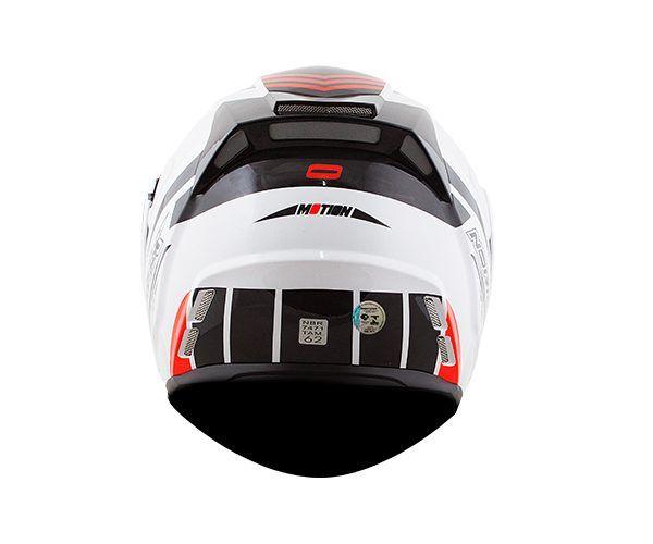 Capacete Norisk FF345 Escamoteável Route Motion White/Red C/ viseira Interna   - Nova Centro Boutique Roupas para Motociclistas