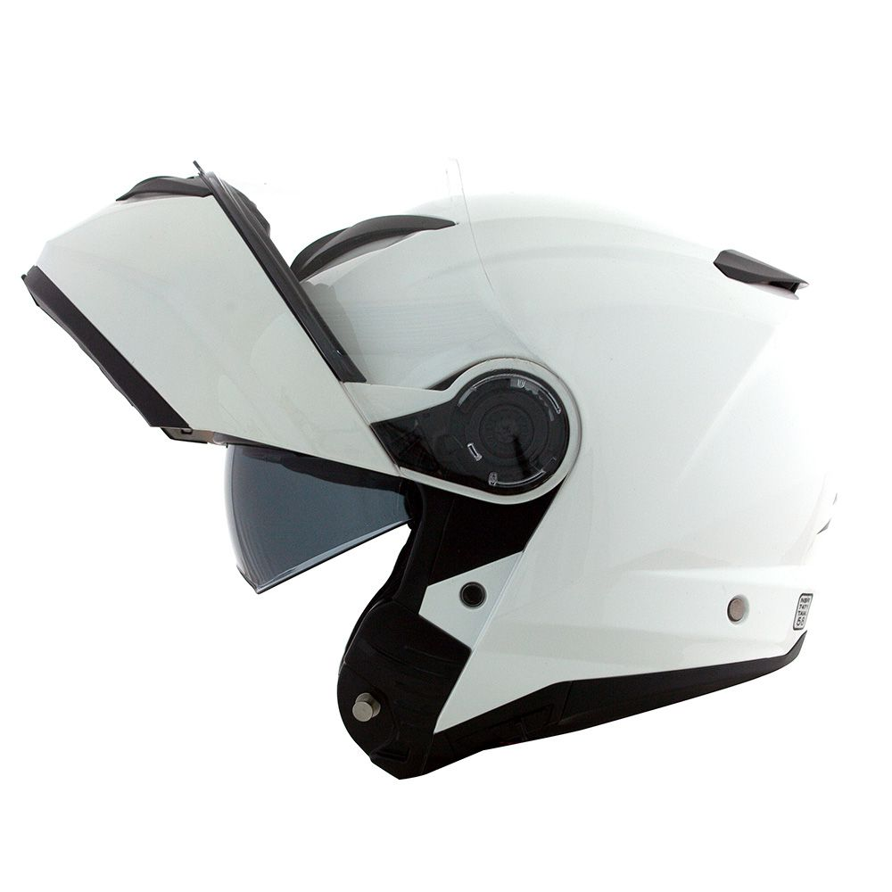Capacete Norisk Force Escamoteável Gloss White C/ Viseira Interna