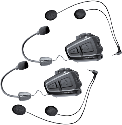Intercomunicador Bluetooth Cardo Scala Rider Q1 Team Set (2 Pç)  - Nova Centro Boutique Roupas para Motociclistas