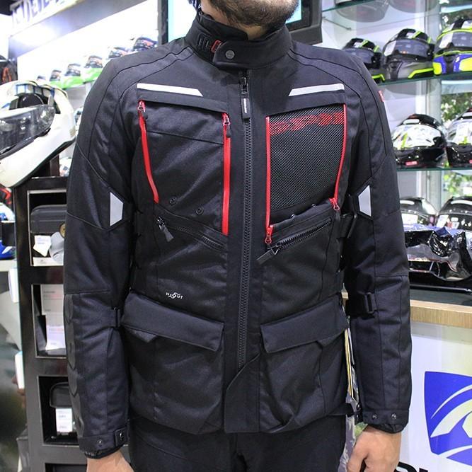 Jaqueta Spidi 4 Season Black H2Out  Respirável - Big Trail   - Nova Centro Boutique Roupas para Motociclistas