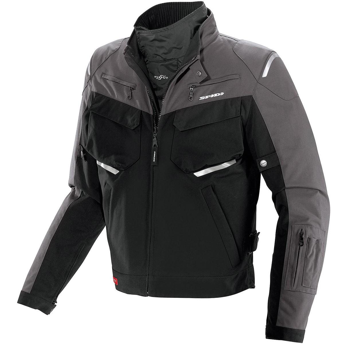Jaqueta Spidi Adventurer H2OUT  Pta/Cinza - SUPEROFERTA!  - Nova Centro Boutique Roupas para Motociclistas
