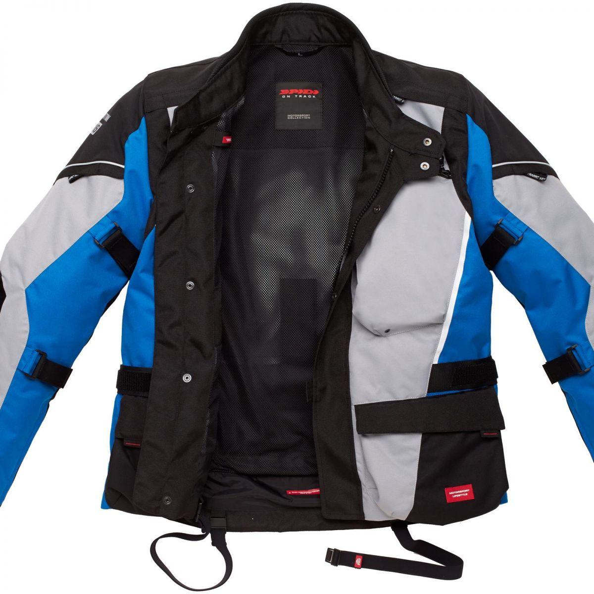 Jaqueta Spidi Voyager 3 H2Out Dark/ Grey/Blue ( Big Trail - Parka ) - SUPEROFERTA!  - Nova Centro Boutique Roupas para Motociclistas