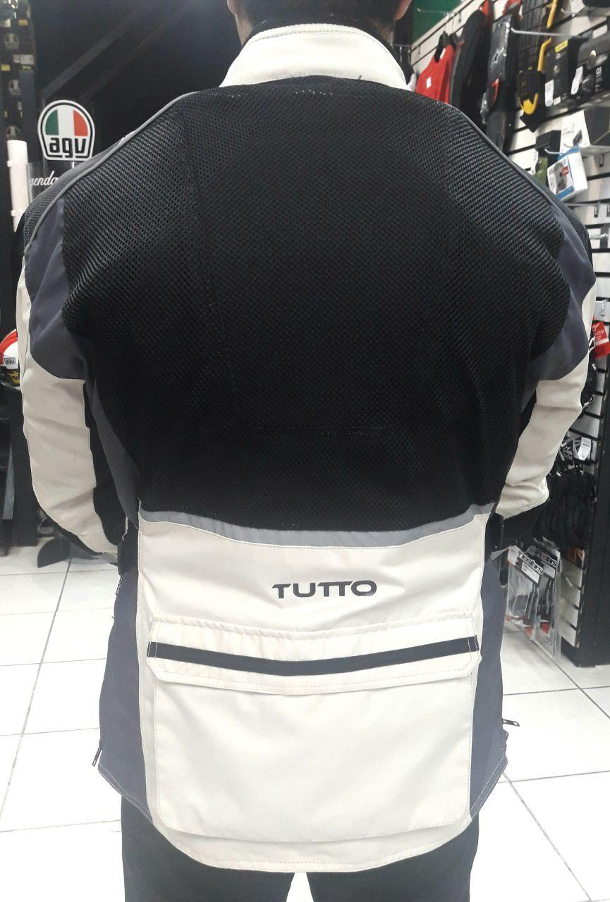 Jaqueta Tutto Leonardo Summer Cream  ( Possui membrana Impermeavel )  - Nova Centro Boutique Roupas para Motociclistas