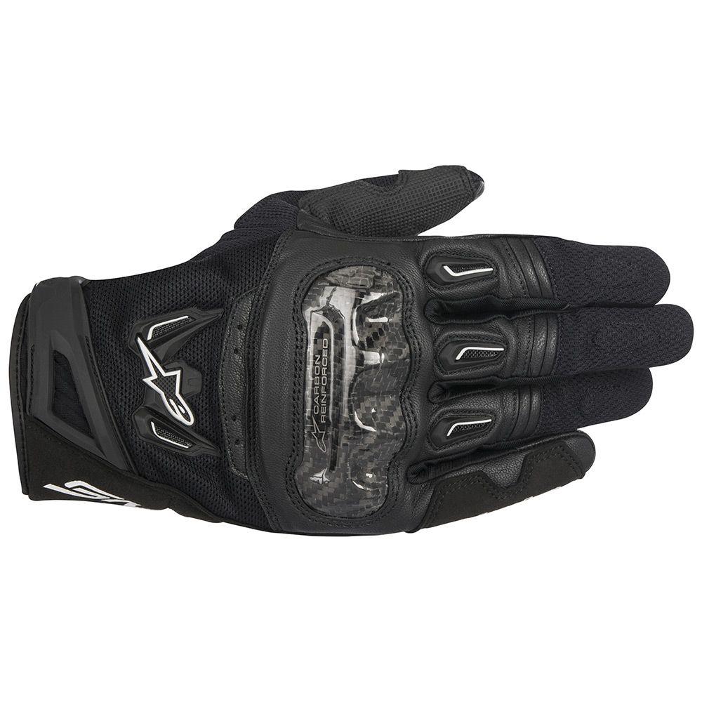 Luva Alpinestars SMX-2 V2 Air Carbon (Preto)  - Nova Centro Boutique Roupas para Motociclistas