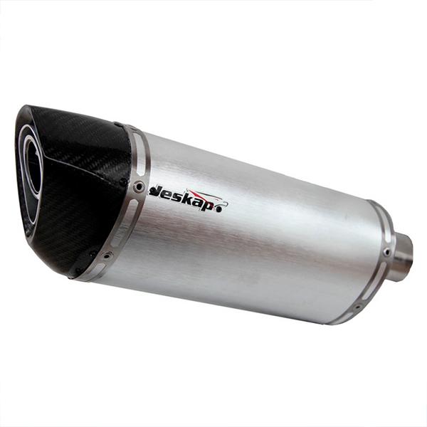 Escapamento Jeskap Three Carbon Yamaha Fazer 600 20cm (o PAR) (Alum/Preto/Aço escovado/ Carbono)  - Nova Suzuki Motos e Acessórios