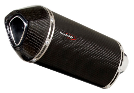 Escapamento Jeskap Three Carbon Kawasaki ZX6 2011 (o Par 22CM) (Alum/Preto/Aço Escovado)  - Nova Suzuki Motos e Acessórios