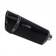 Escapamento Jeskap Three Carbon Yamaha MT03 20cm (Alum/Preto/Aço escovado/ Carbono)