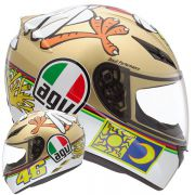 Capacete AGV K-3 Chiken Réplica Oficial Valentino Rossi