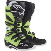 Bota Alpinestars Tech 7 (Black/Green)