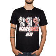 Camiseta SpeedRace Marc Marquez 93 Formiga Preta