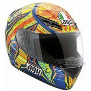 Capacete AGV K-3 Five Continents Valentino Rossi