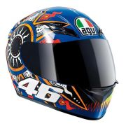 Capacete AGV K-3 Moto GP BLU Valentino Rossi