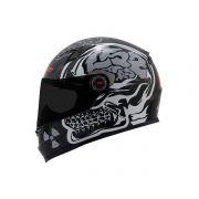 Capacete LS2 FF358 Crazy Skull Blk/Wht