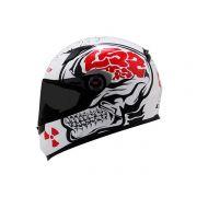 Capacete LS2 FF358 Crazy Skull WHT/BLK
