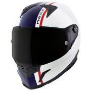 Capacete Nexx XR2 Anima Branco/Azul - Tri-Composto - Ganhe Viseira Fumê