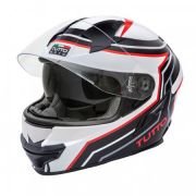 Capacete Tutto Racing Red c/Óculos Interno - GANHE Viseira Espelhada!
