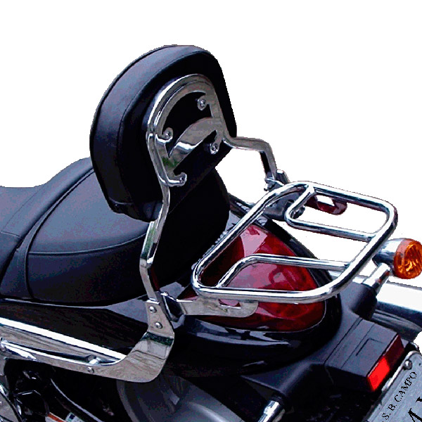 Encosto c/ Bagageiro Tubular FMV p/ Boulevard M1500  - Nova Suzuki Motos e Acessórios