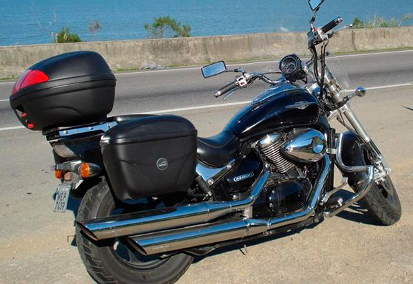 Suporte lateral FMV p/ Boulevard M800 (Baús Givi 21 e 41 litros)  - Nova Suzuki Motos e Acessórios